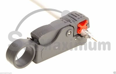 Cable Stripper For RG59 RG6 RG11 Coaxial Wire Coax Stripping Tool Universal USA