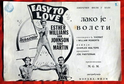 Easy To Love Esther Williams 1953 Exyu Movie Program