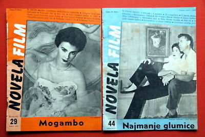 JEAN SIMMONS 2X COVER 1954 VERY RARE EXYU MAGAZINES