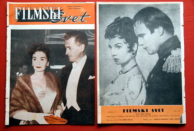 JEAN SIMMONS 2X COVER BACK 55 VERY RARE EXYU MAGAZINES