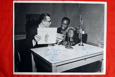 Louis Armstrong  Willis Conover Jazz Legends Voa Signed