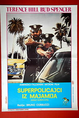 Miami Supercops Hill Bud Spencer 1985 Exyu Movie Poster