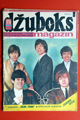 Rolling Stones On Cover 1966 Very Rare Exyu Magazine