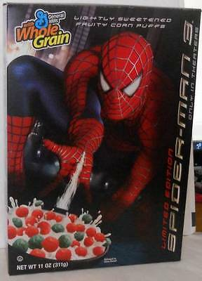 2007 Spider-Man 3 Limited Edition Collectible Cereal Box