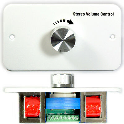 60W Stereo Speaker Wall Volume Control Face Plate – Adjustable Sound Switch