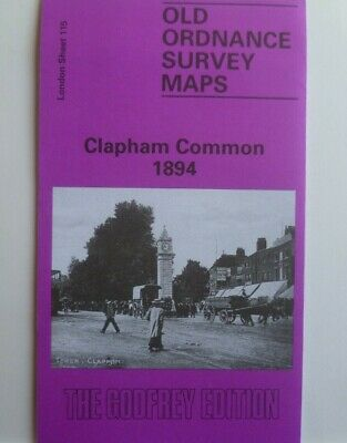 OLD ORDNANCE SURVEY DETAILED MAP CLAPHAM COMMON  LONDON 1894 Godfrey Edition New