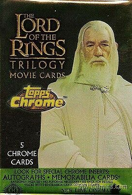 Lord Of The Rings Lotr Movie Trilogy Topps Chrome Full 100 Card Base Set W/ Wrap