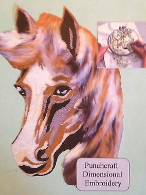 Punch Needle Large Horse Head Kit punch by numbers embroidery by Websters