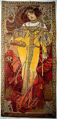 "Alphonse Mucha 39"" X 18"" 100Cm X 46Cm ""autumn"" Fully Lined Tapestry Wall Hanging"