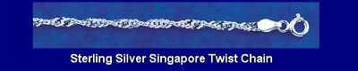 """10 STERLING Silver SINGAPORE TWIST 18"""" Chains WHOLESALE"""