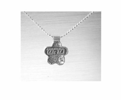 Sterling Silver Kabbalah Healing Necklace Flower Shape, Spiritual and Physical
