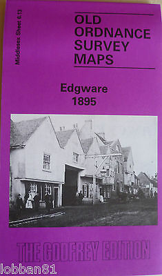 Old Ordnance Survey  Detailed Map Edgware Middlesex 1895 Sheet 6.13 New