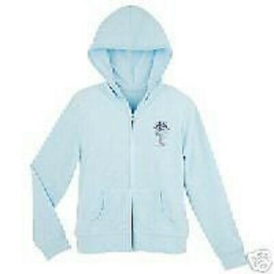 Disney Store Tinker Bell Hooded Jacket NEW Blue Coat S M Tinkerbell NEW Hoodie