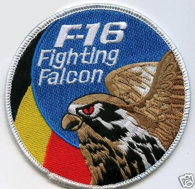 F16 Fighting Falcon Swirl Patch Belgium Air Force Swirl Patch