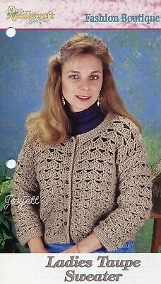 Dutch Tulip Sweater Crochet Collector/'s Tunisian crochet pattern leaflet