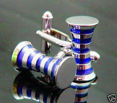 6 Pairs Blue Cufflinks, Wedding Cuff Links, Wholesale