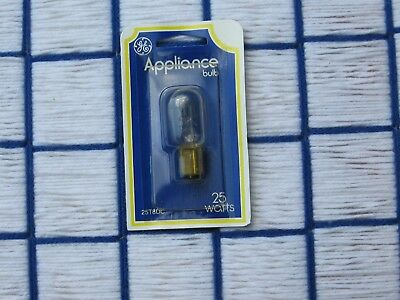 BOX of 20} new GE LIGHT BULB 25W DOUBLE CONTACT BAYONET Base Ba15d clear 25T8DC