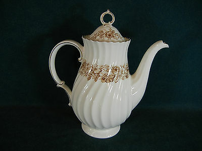 Royal Doulton Brown Mayfair H4905 Coffee Pot with Lid