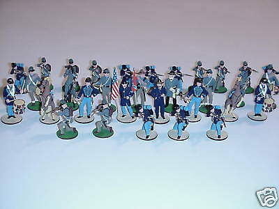 Russian Made Hand Painted Pewter Civil War Chess Set