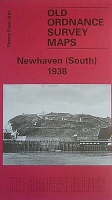 OLD ORDNANCE SURVEY MAPS NEWHAVEN SOUTH SUSSEX 1938 Godfrey Edition New