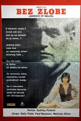 Absence Of Malice Paul Newman 1981 Exyu Movie Poster
