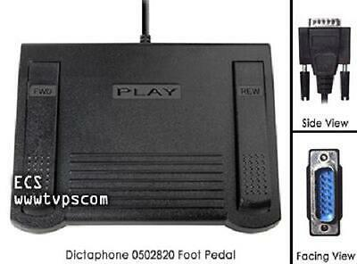 Dictaphone 0502820 Transcriber Transcription Foot Pedal 15 Pin