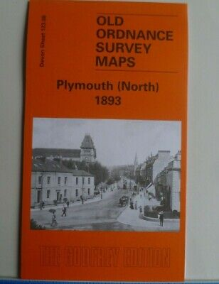 Old Ordnance Survey Detailed Maps  Devon Plymouth North 1893 Godfrey Edition New