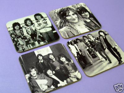 Rod Stewart The Faces Fantastic BW Drinks COASTER Set