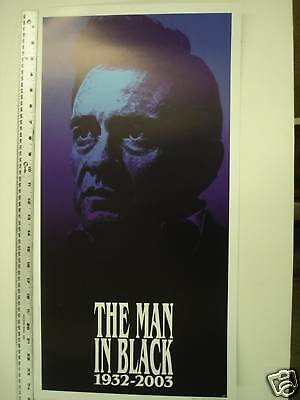 JOHNNY CASH POSTER  13x25