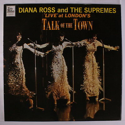 DIANA ROSS & SUPREMES: Live At London's Talk Of The Town LP (Denmark, black/sil
