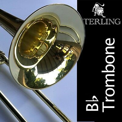 GREEN Sterling Eb ALTO TROMBONE • High Quality • Brand New • With Case •