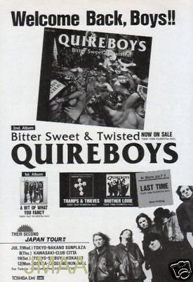 1993 QUIREBOYS Bitter Sweet & Twisted JAPAN PROMO AD