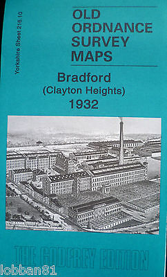 OLD Ordnance Survey Maps Bradford Clayton Heights Yorkshire 1932 Godfrey Edition