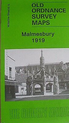 Old Ordnance Survey  Detailed Map Malmesbury Wiltshire  1919 Sheet 8.15