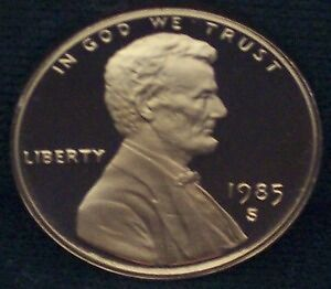 1985-S Proof Lincoln Memorial Penny - Deep Cameo!