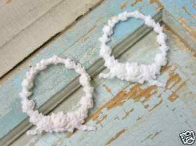 Shabby n Chic ROSE Baby Wreaths (2) * Furniture Appliques !!