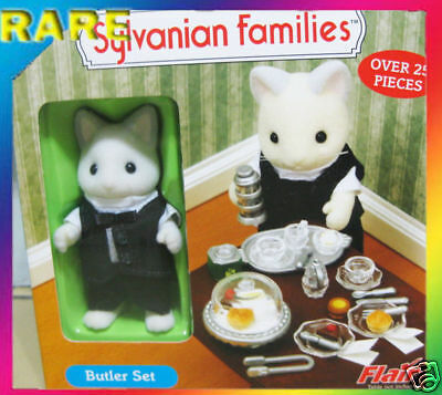 Sylvanian Families CALICO CRITTERS  BUTLER CAKE BUFFET KEATS KITTY CAT SET
