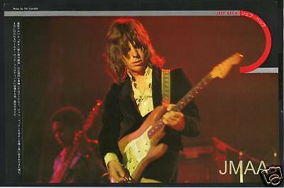 1975 JEFF BECK JAPAN mag PHOTO PIN-UP mini POSTER