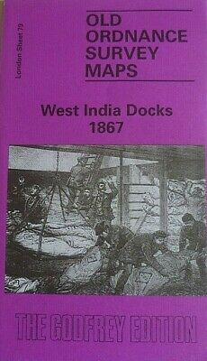 Old Ordnance Survey Maps West India Docks London 1867 Godfrey Edition New