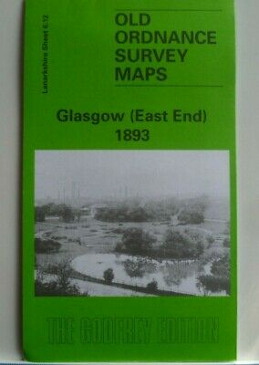 Old Ordnance Survey Maps Glasgow East End Scotland 1893 Godfrey Edition