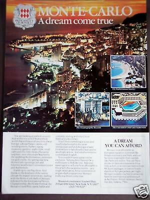 1981 MONACO Monte-Carlo vacation promo photo ad