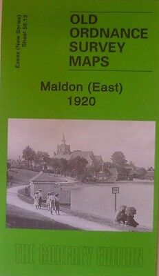Old Ordnance Survey  Maps Maldon East Essex 1920 Godfrey Edition New