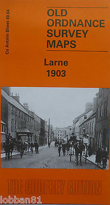 OLD ORDNANCE SURVEY MAP Co ANTRIM LARNE 1903 SHEET 40.04 NEW