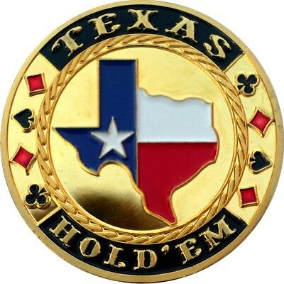 "UNIQUE POKER CARD GUARD 24K VERGOLDET ""Texas State"""