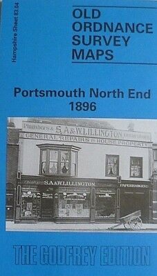 OLD ORDNANCE SURVEY DETAILED MAP PORTSMOUTH NORTH END  HAMPSHIRE 1896 Godfrey Ed