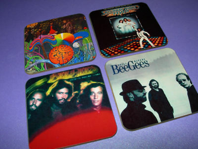 The Bee Gees Album Cover Drinks Coaster Set