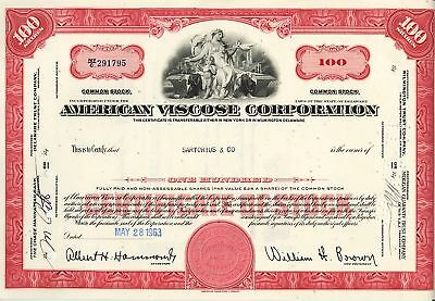 AMERICAN VISCOSE CORPORATION dd 1963 issued to Sartorius & Co