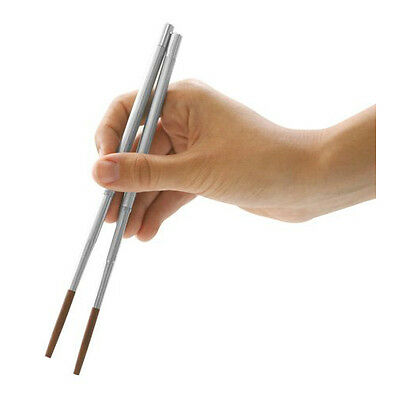 kikkerland Stainless Steel travel Chopsticks Chop stick CD20 with carrying case