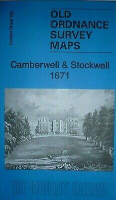 Old Ordnance Survey Detailed Maps London Camberwell & Stockwell 1871 Godfrey Ed