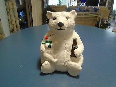 Coca-Cola Coke Polar Bear Utensil Holder (Cookie Jar)